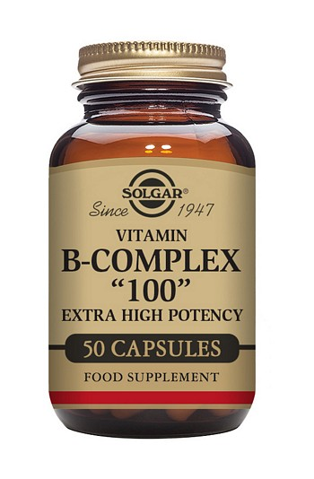 Solgar Vitamin B Complex 100 mg 50 Vegetable Capsules