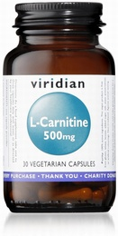 Viridian L-Carnitine 500mg 30 Vegetable Capsules