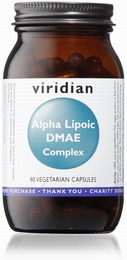 Viridian Alpha Lipoic Acid/DMAE Complex 90 Vegetable Capsules