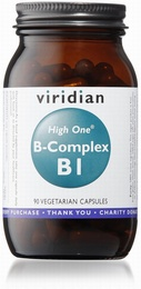 Viridian HIGH ONE Vitamin B1 with B-Complex 90 Vegetable Capsules