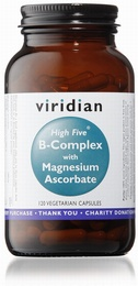 Viridian HIGH FIVE B-Complex/Mag Ascorbate 120 Vegetable Capsules