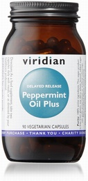 Viridian Peppermint Oil Plus 90 Vegetable Capsules