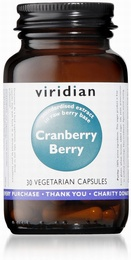 Viridian Cranberry Berry Extract 30 Vegetable Capsules