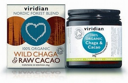 Viridian Wild Chaga and Raw Organic Cacao Powder Drink 30g