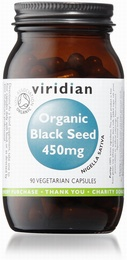 Viridian Organic Black Seed 450mg 90 Vegetable Capsules