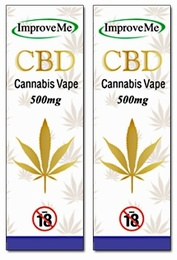 ImproveMe Organic CBD Cannabis Vape 500mg 2x10ml - TWIN PACK OFFER!